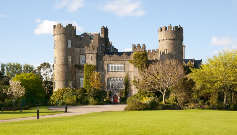 Malahide Castle in Dublin.