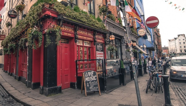 Essen & Trinken in Dublin.