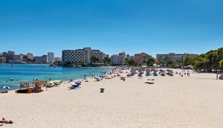 Strand in El Arenal