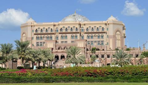 Das Emirates Palace Hotel in Abu Dhabi