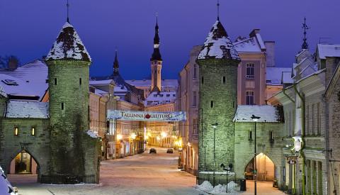 Das Weltkulturerbe die Altstadt von Tallin.
