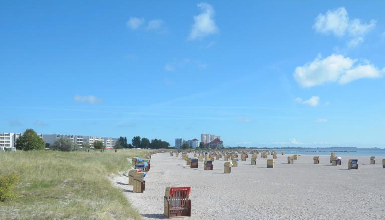 Der Südstrand von Burgtiefe auf Fehmarn.