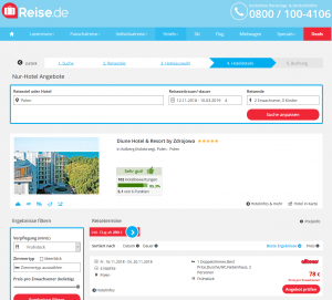 Screenshot Deal Diune Hotel & Resort Polen