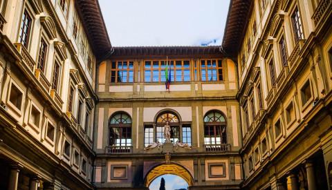 Die Uffizien in Florenz.