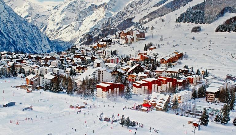 Skiresorts in Frankreich.