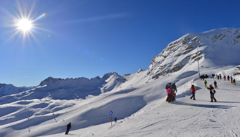 Skipisten rund um die Zugspitze.