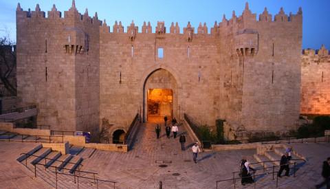 Das Damaskus Tor der Stadtmauer