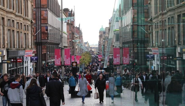 Shopping in Glasgow.
