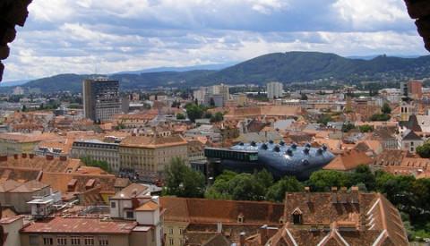Die Altstadt von Graz zählt zum Weltkulturebe.