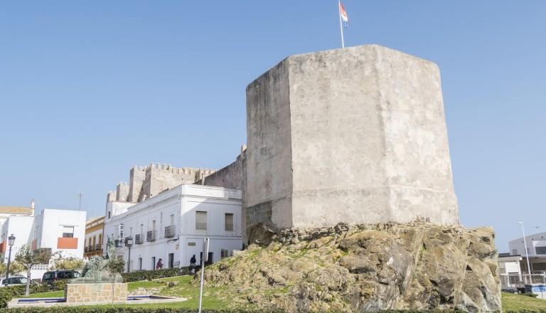 Die Castillo de Guzman in Tarifa.