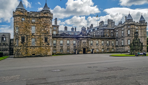 Der Holyrood Palace in Edinburgh