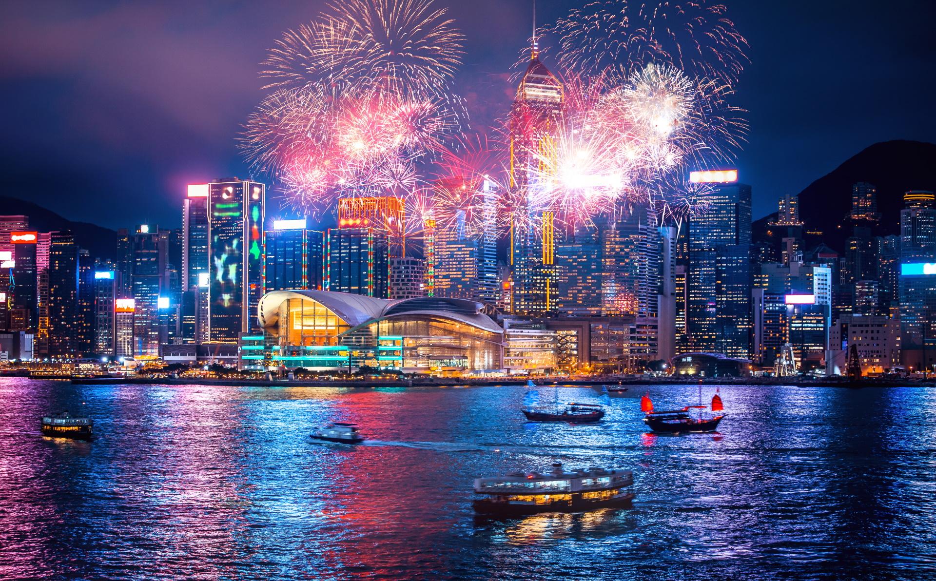 Hongkong Feuerwerk