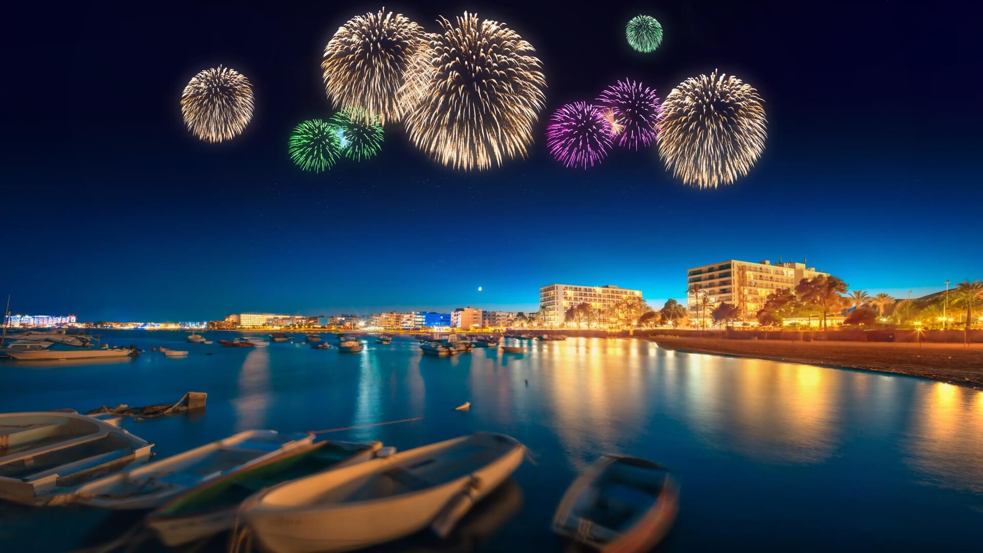 Ibiza Party Feuerwerk