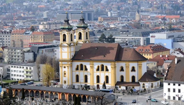 Die Basilika Wilten in Innsbruck.