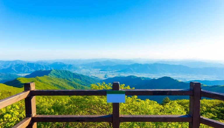 Der Jirisan Nationalpark in Südkorea.