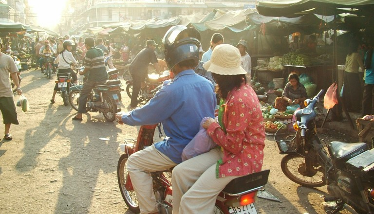Markt Kambodscha Reisen