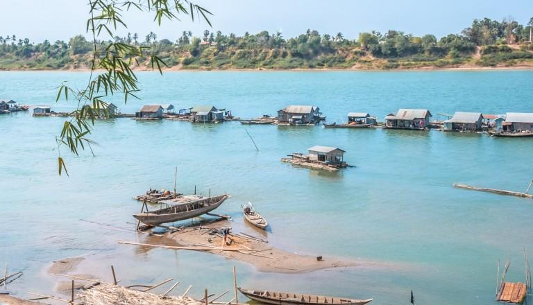 Der Mekong in Kambodscha.