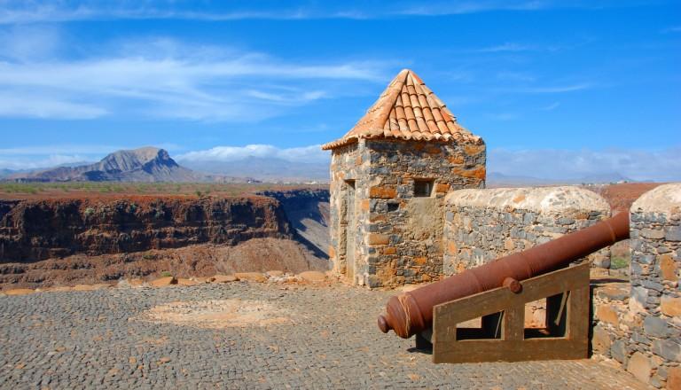 Die Festung Sao Felipe von Ribeira Grande, Kap Verde Sehenswürdigkeiten.