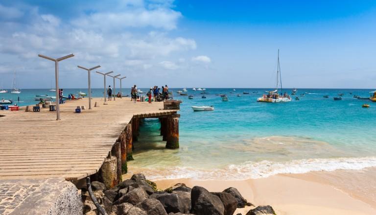 Der Santa Maria Beach auf Sal Island, Kap Verde.