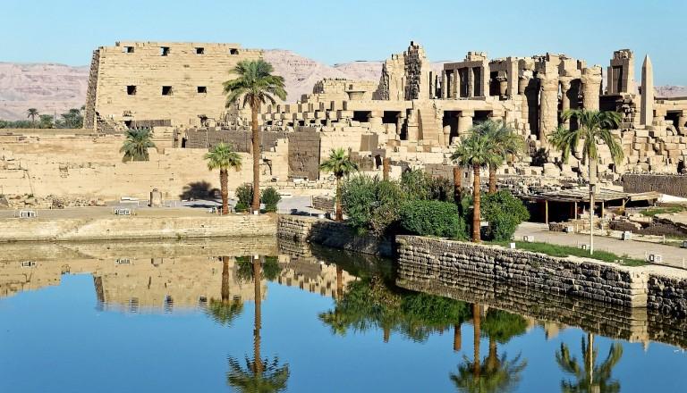 Der Karnak Tempel in Luxor.