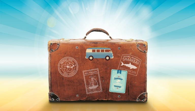 Partyurlaub Koffer
