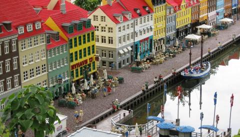 Kopenhagen im Legoland. Legoland in Dänemark.