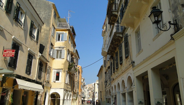 Kabielo gehört zu den beliebtesten Stadtteilen von Korfu.