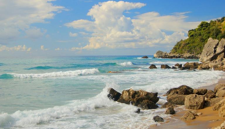 korfu meer strand