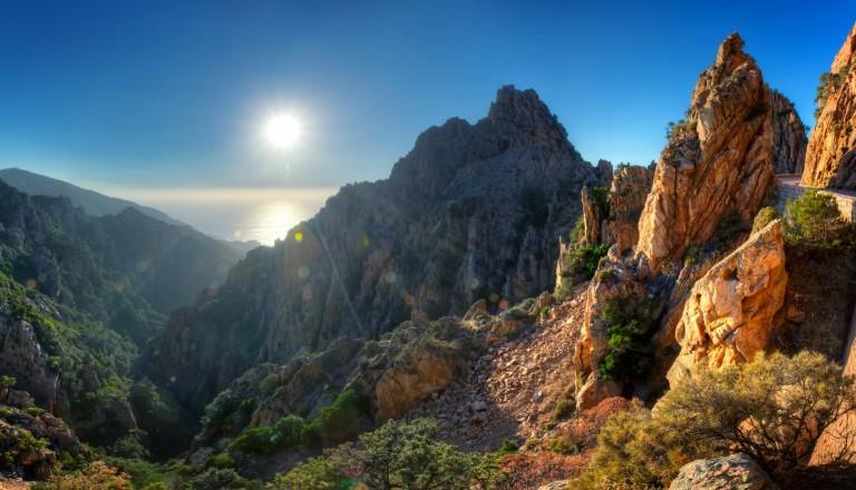 Die Felsformation Calanche auf Korsika