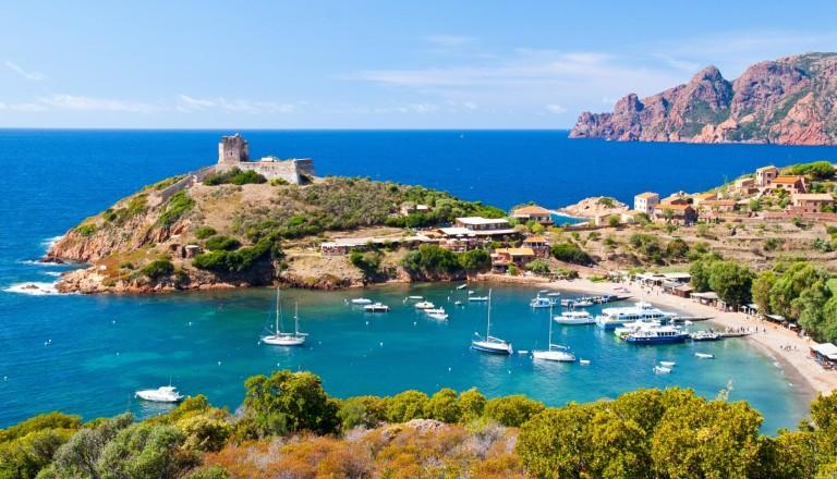Girolata Bay auf Korsika.