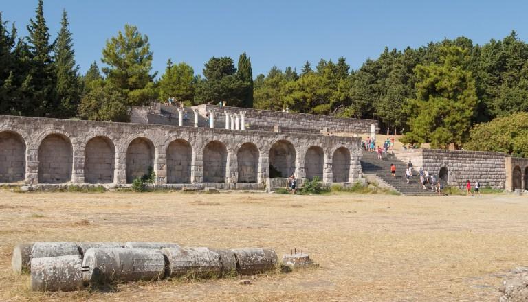 Die Ruinen des antiken Asklepion.