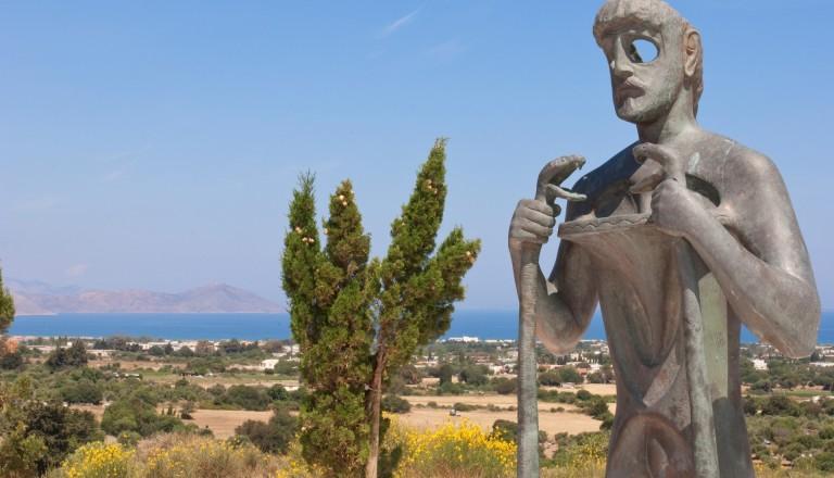 Kultur auf Kos - Die Statue des Asklepios.