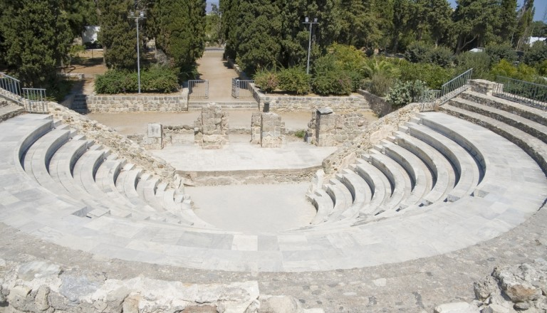 Events auf Kos. Antikes Theater.