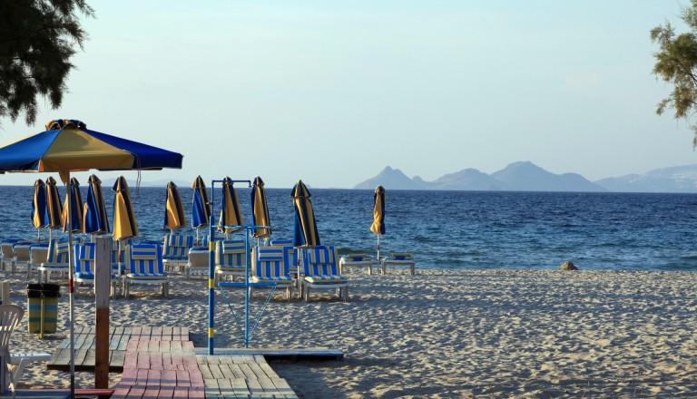 Der Tigaki Beach auf Kos.