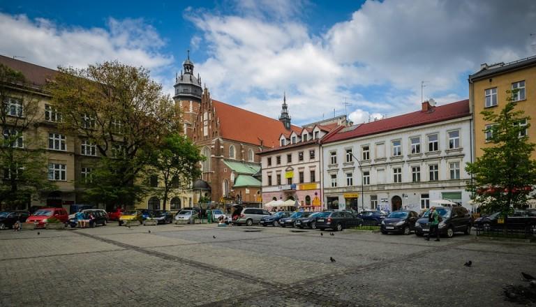 Markplatz im Stadtteil Kazimierz von Krakau