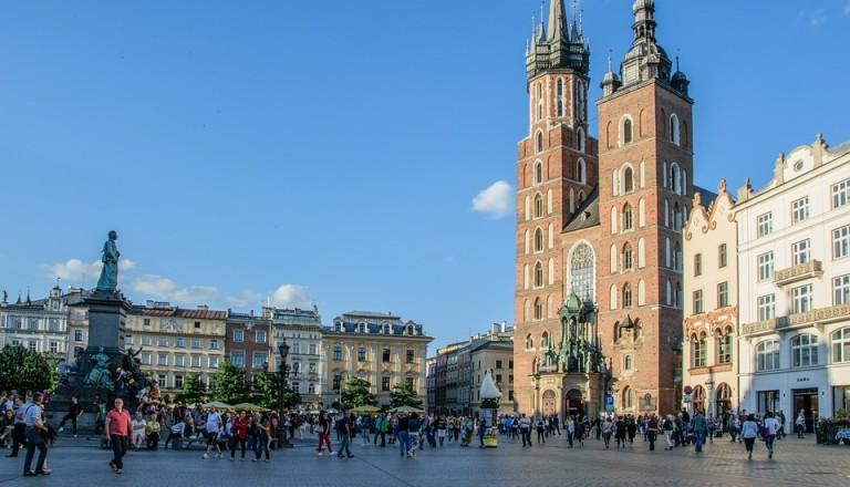 Krakaus Marktplatz in der Altstadt.