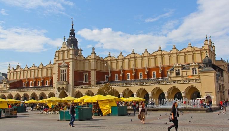Städtereisen Krakau Marktplatz