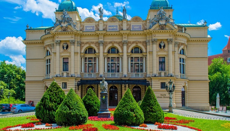 Das alte Theater in Krakau.