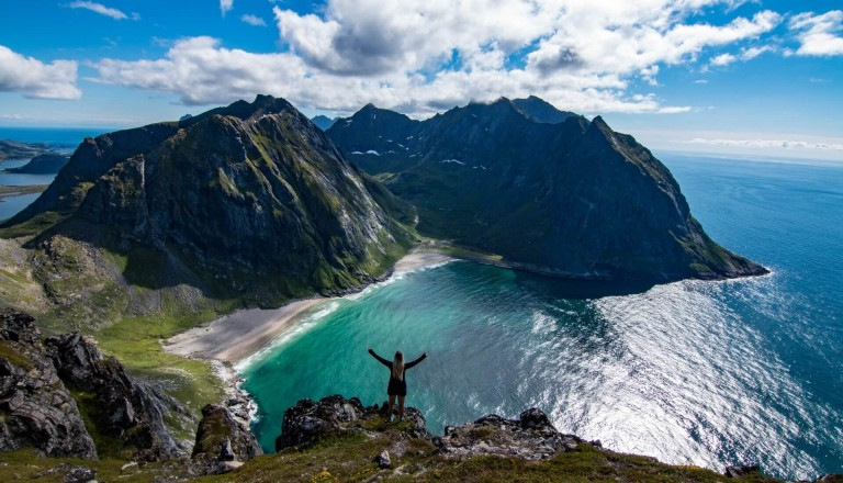 Kvalvika Bucht Norwegen