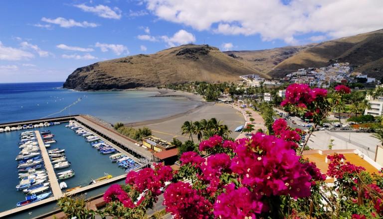 Die Inselhauptstadt San Sebastian La Gomera.
