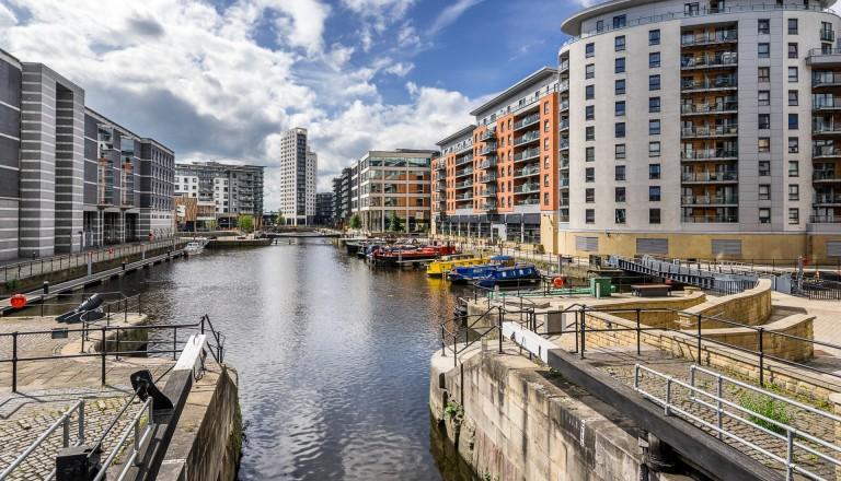 Die Docks von Leeds.