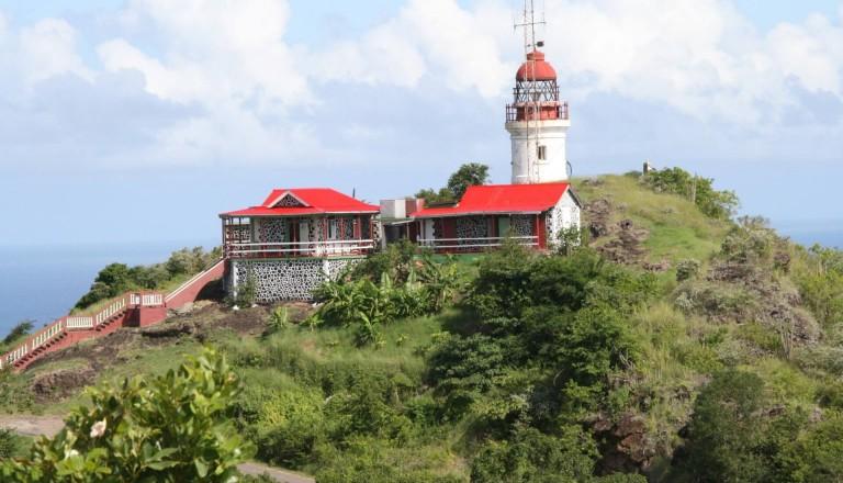 Der Moule-a-Chique Leuchtturm auf St. Lucia