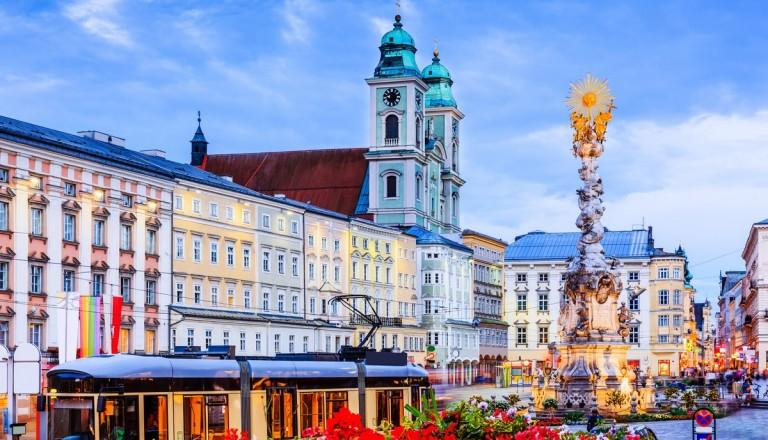 Linz Hauptplatz Dreifaltigkeitssäule