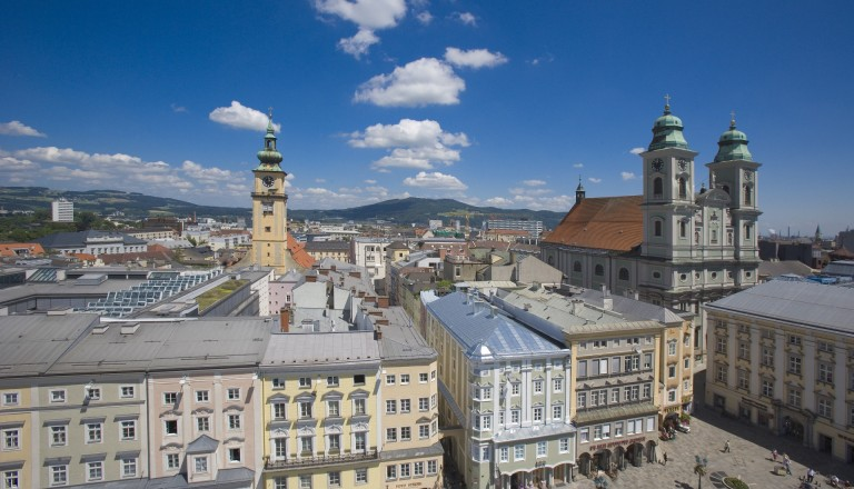 Auch in der Altstadt kann man in Linz wunderbar shoppen.