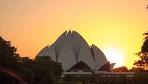Der Lotustempel in Delhi, Indien. Kutur