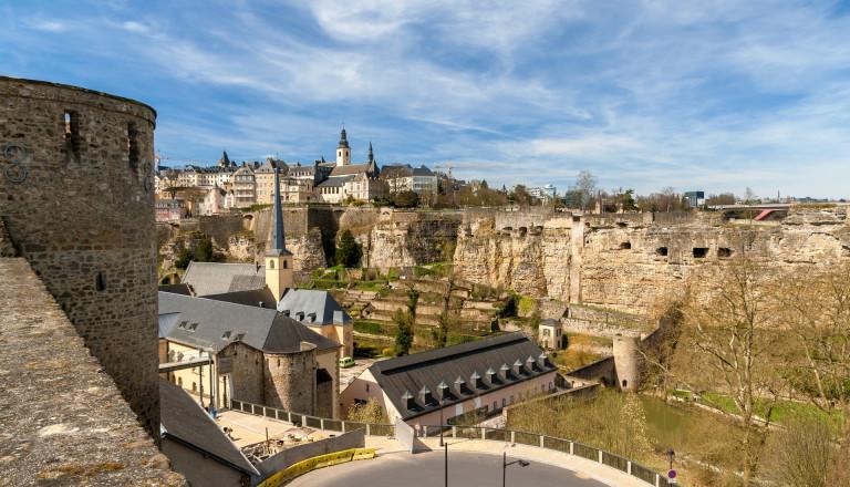 Die Altstadt und die Festung der Haupstadt Luxemburg.