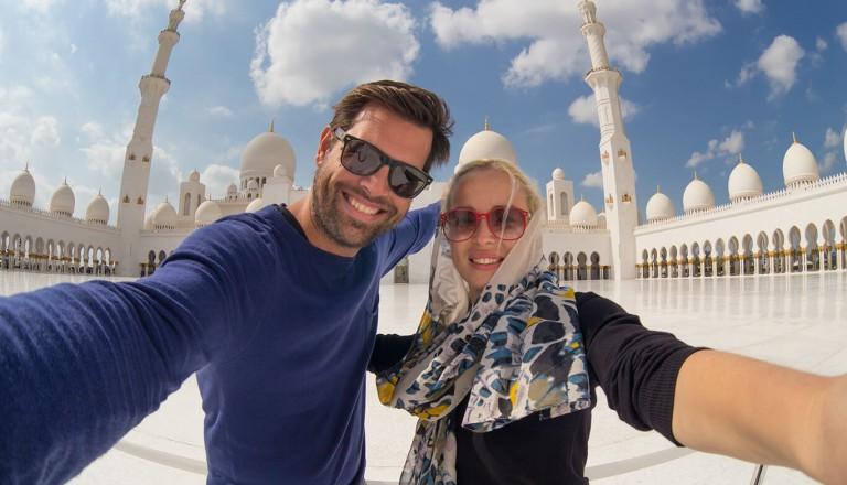 Luxusurlaub - Abudhabi Sheikh-Zayed-Moschee