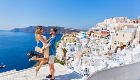 Heiratsantrag Santorin