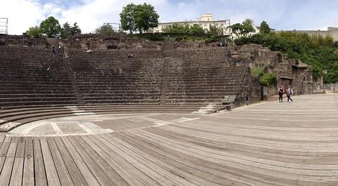 Das römische Amphitheater in Lyon.
