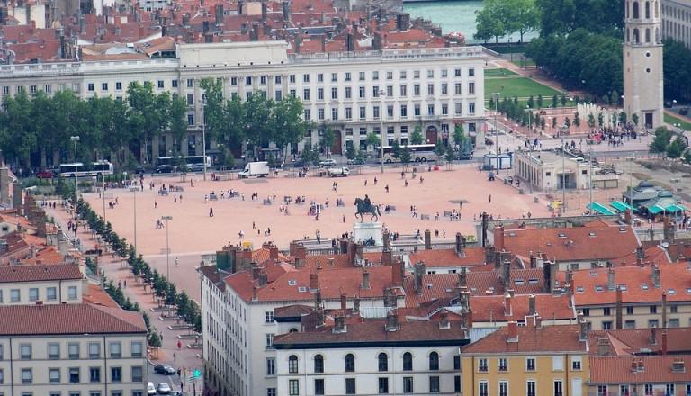 Der Place de Bellecour in Lyon.